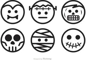 Vecteurs de personnages de Halloween