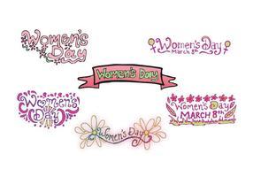 Série de dessins gratuits pour la fête des femmes vecteur