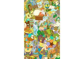 Carte abstraite d'illustration vectorielle de Noël