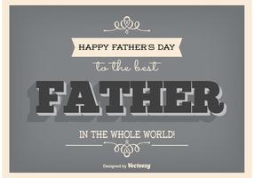 Poster typographique de la fête des pères vecteur
