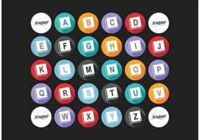 Scrabble alphabet vector free