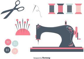 Ensemble d'objets vectoriels à couture gratuit vecteur