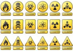 Signes vectoriels de prévention et de prudence vecteur