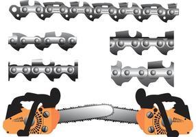 Vecteurs de tronçonneuses vecteur