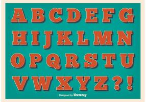 Alphabet style vintage
