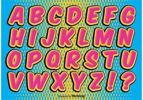 Ensemble alphabétique de style comique