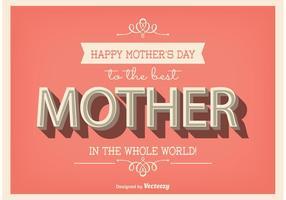 Affiche typographique de la fête des mères