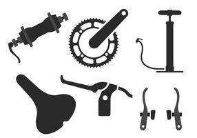 Vecteurs de pièces de vélo vecteur