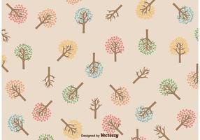 Motif de l'arbre saisonnier vecteur