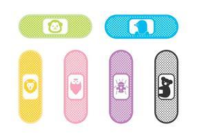 Icônes vectorielles gratuites pour enfants Bandaid