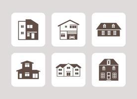 Icônes de vecteur de maisons gratuites