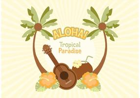 Illustration vectorielle hawaïenne gratuite