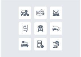 Icônes de vecteur de concessionnaire de voitures gratuites