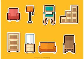 Vecteurs de meubles d'habitation vecteur