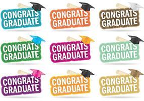 Vecteurs diplômés de félicitations vecteur