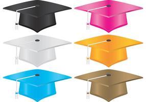 Chapeaux d'obtention du diplôme vecteur