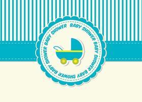 Carte Baby Shower vecteur