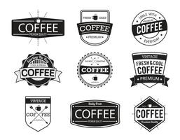 Vecteurs de badges de café vecteur