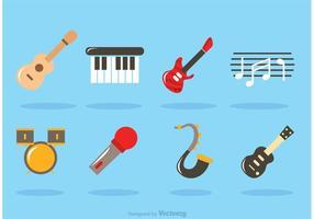 Vecteurs d'instruments à musique plate vecteur