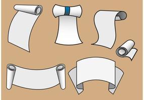 Vecteurs de papier défilés