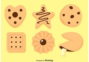 Vecteurs de cookies délicieux vecteur