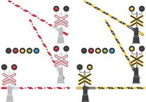 Barrières ferroviaires vecteur