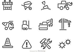 Vecteurs d'icônes de contour de construction vecteur