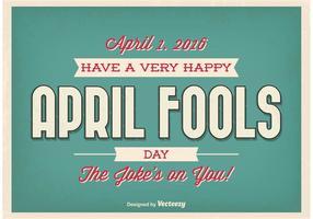 Affiche typographique de la folie d'avril