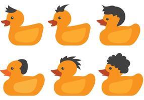 Vecteurs de canard caoutchouteux