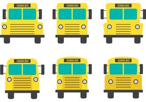 Vecteurs d'autobus scolaire à vue avant