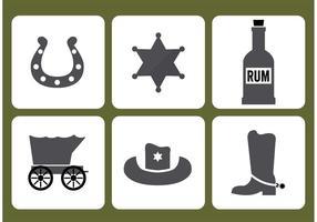 Vecteurs d'icône Old West vecteur