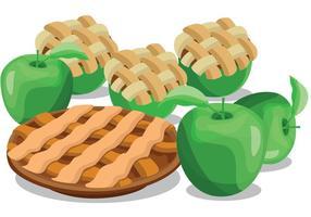 Vecteurs de tarte aux pommes vecteur