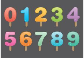 Nombre de vecteurs popsicle vecteur