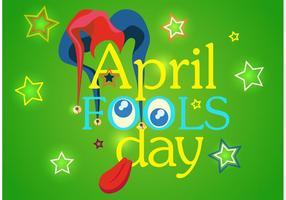 Contexte vectoriel de April Fool's Day