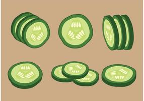 Tranches de concombre vectoriel