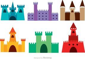 Vecteurs colorés du château vecteur
