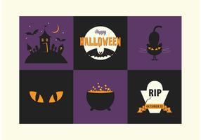 Icônes vectorielles gratuites de Halloween