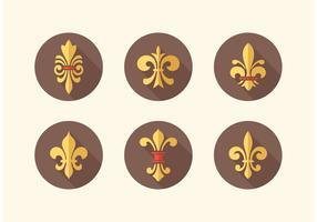 Pack gratuit d'icônes vectorielles Fleur De Lis vecteur