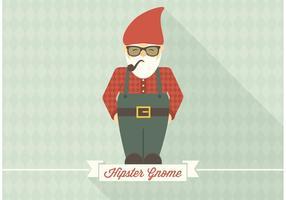 Vecteur gnome hipster gratuit
