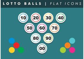 Loto balls numbers flat icons vector free