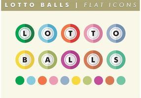 Lotto balls flat icons vector gratuit