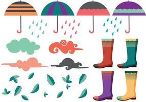 Vecteurs de pluie printanière