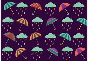 Vecteur de motif de pluie de printemps