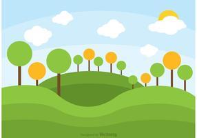 Rolling Hills Landscape Vector