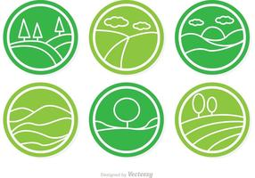 Circulaire Vector Rolling Hills Icons