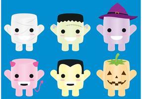 Vecteurs de personnage de bonbons d'Halloween
