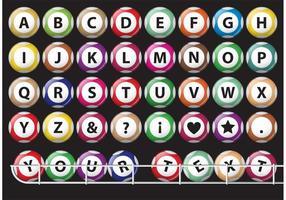 Vecteurs de boules lotto d'alphabet vecteur