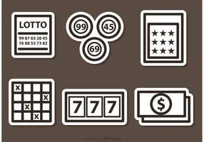 Icônes de vecteur Lotto soulignées
