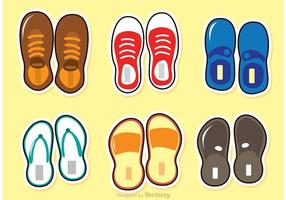 Vecteur de chaussures et de sandales