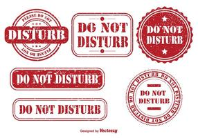 Ne pas déranger les timbres en caoutchouc vecteur